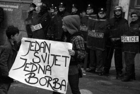 Tuzla, 06.02.2014 - Nastavak masovnih prosvjeda radnika brojnih tvrtki u stecaju
