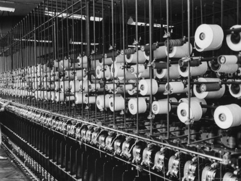 carl-mydans-yugoslavian-woman-spooling-nylon-thread-at-textile-factory