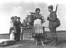 μια αγρότισσα και ένας στρατιώτης το 1944