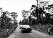 Achimota, Ghana, Μάρτιος 1961. στο δρόμο για επίσκεψη σε σχολείο