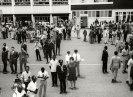 Entebbe, Uganda, Σεπτέμβριος 1970. Συζήτηση με τον πρόεδρο Milton Obote στο διάδρομο προσγείωσης πριν από την αναχώρηση μετά την τρίτη διάσκεψη του Κινήματος των Αδεσμεύτων