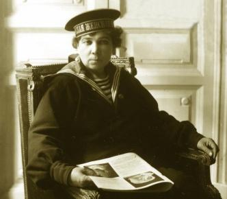 2_Evdokia_Skvortsova_company_delegate_Yakov_Steinberg_1917_TsGAKFFD