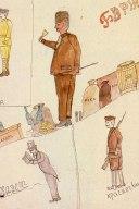 οι ανθρωπότυπο της εποχης: ο αστός, ο εμπορος, ο μπολσεβίκος εργάτης και ο ερυθροφρουρός
