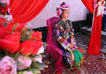 Γυναίκα της μειονότητας των Ντουγκάνι του Καζακστάν