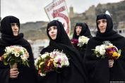 Γυναίκες από την Γεωργία, στην εθνικιστική εορτή των 100 χιλιάδων μαρτύρων. Φέτος ο εορτασμός ήταν από τους μεγαλύτερους